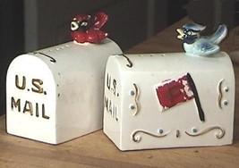Birds on U.S. Mail Boxes Big Salt & Pepper Shakers - $18.50
