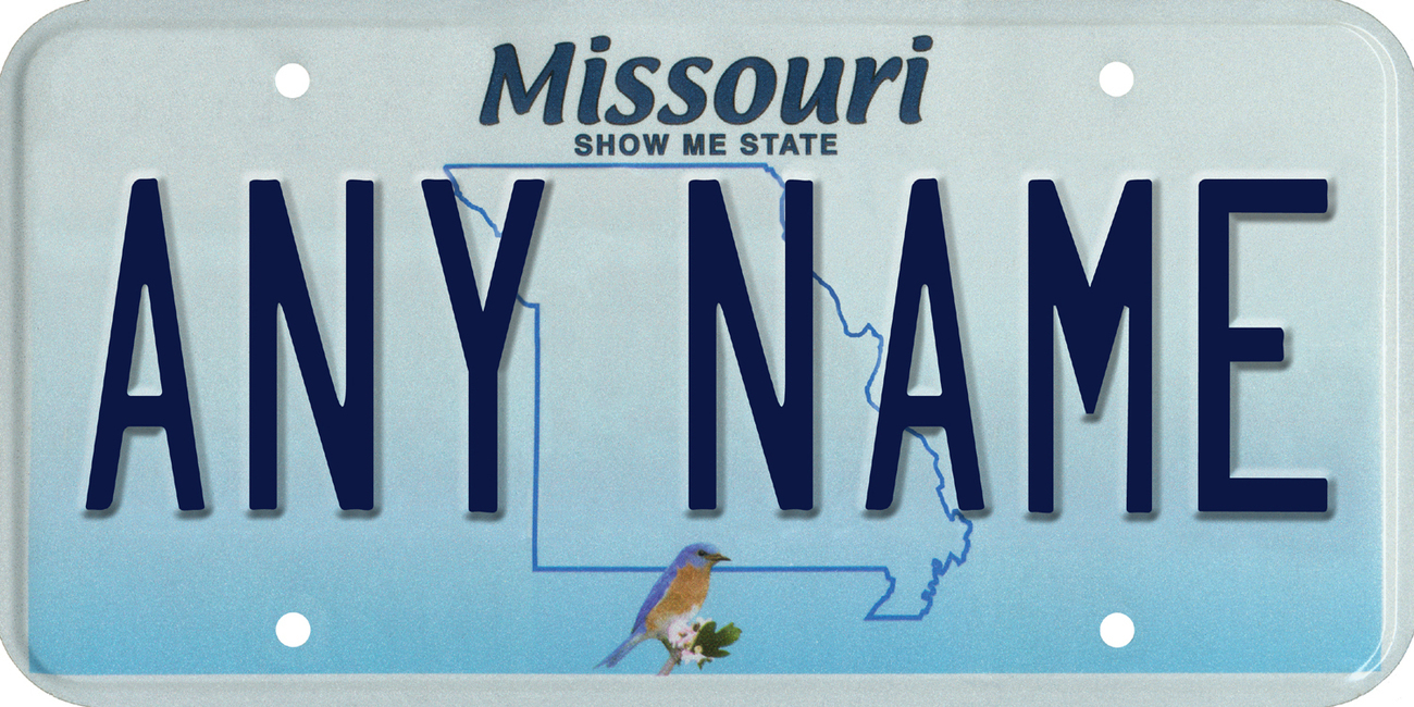 Custom Personalized Missouri golf cart, mobility scooter, go cart license plate