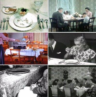 Primary image for Social Dining Etiquette Table Manners 1940s to 1950s Classic Films DVD