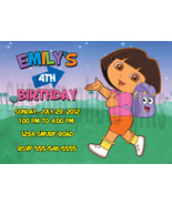 Personalized Dora the Explorer Birthday Invitation Digital File, You Print - $8.00