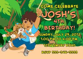 Personalized Go Diego Go Birthday Invitation Digital File, You Print - $8.00
