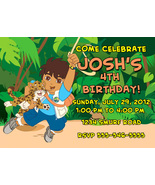 Personalized Go Diego Go Birthday Invitation Digital File, You Print - $8.00