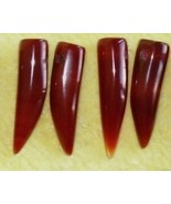 "12 Beautiful, Carnelian Stone ""Wolf Teeth"" Beads - $14.95"