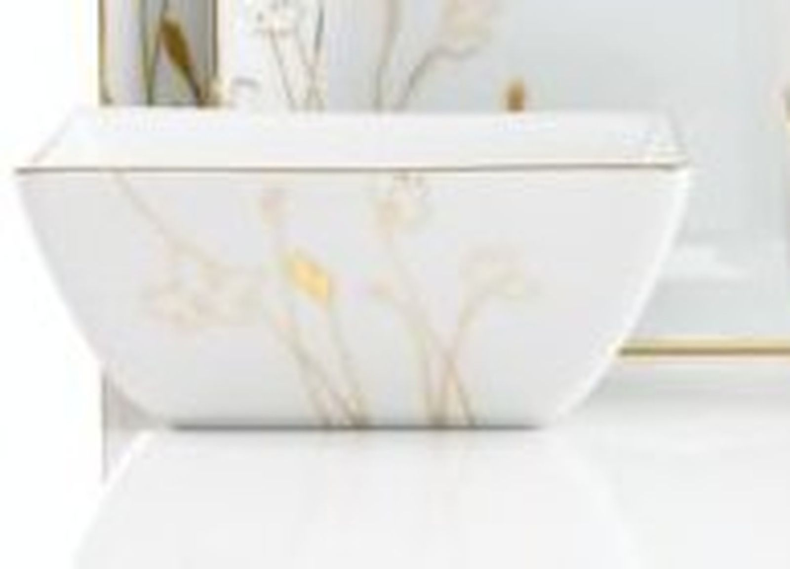 Charter Club Grand Buffet Gold Silhouette Square Cereal Bowls Set of ...