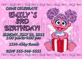 Personalized Sesame Street Abby Caddaby  Birthday Invitation Digital File - $8.00