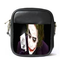 Sling Bag Leather Shoulder Bag Joker With Card American Superheroes In Batman M - $14.00