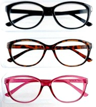 25a637ebccdf 3 Pack Reading Glasses Betsey Johnson Designer Readers +2.50 Multi Color...  -