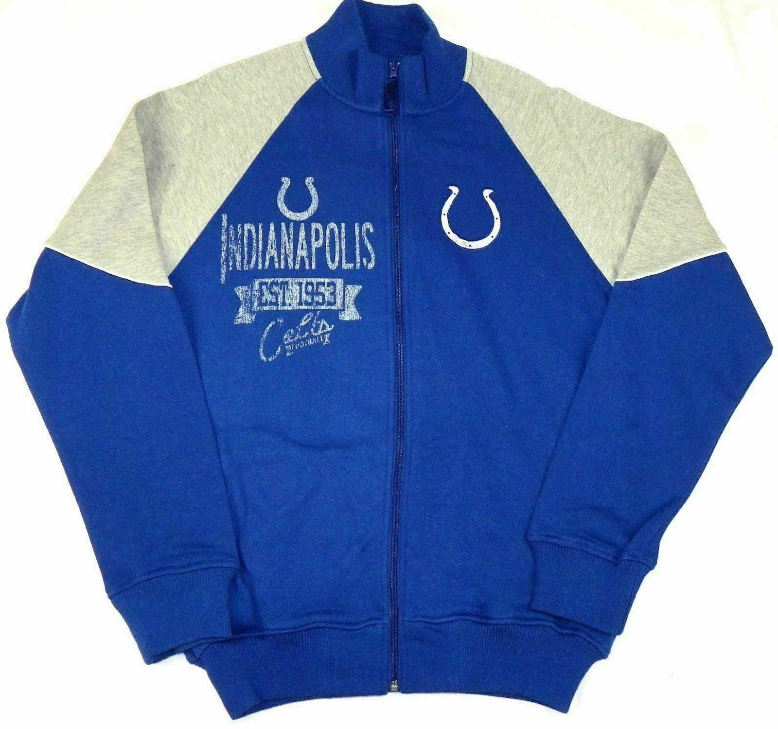 Large Indianapolis Colts Track Jacket Men's NFL Full Zip Sweatshirt G-III