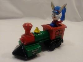 VINTAGE Looney Tunes Train Engine, 1989 Bugs Bunny Engineer, Diecast ERT... - $9.00