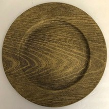 """Gold Faux Wood Look 13"""" Charger Plates-Set of 2-Made of Thick Plastic-NE... - $8.79"""