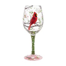 "Cardinal Beauty ""Designs by Lolita"" Wine Glass 15 o.z. 9"" High  Gift Boxed"