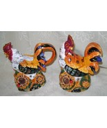 Colorful Rooster, Ceramic, Sugar Bowl and Creamer Set - $27.00