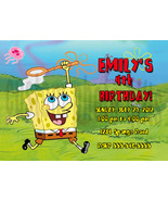 Personalized Spongebob Squarepants Birthday Invitation Digital File, You... - $8.00