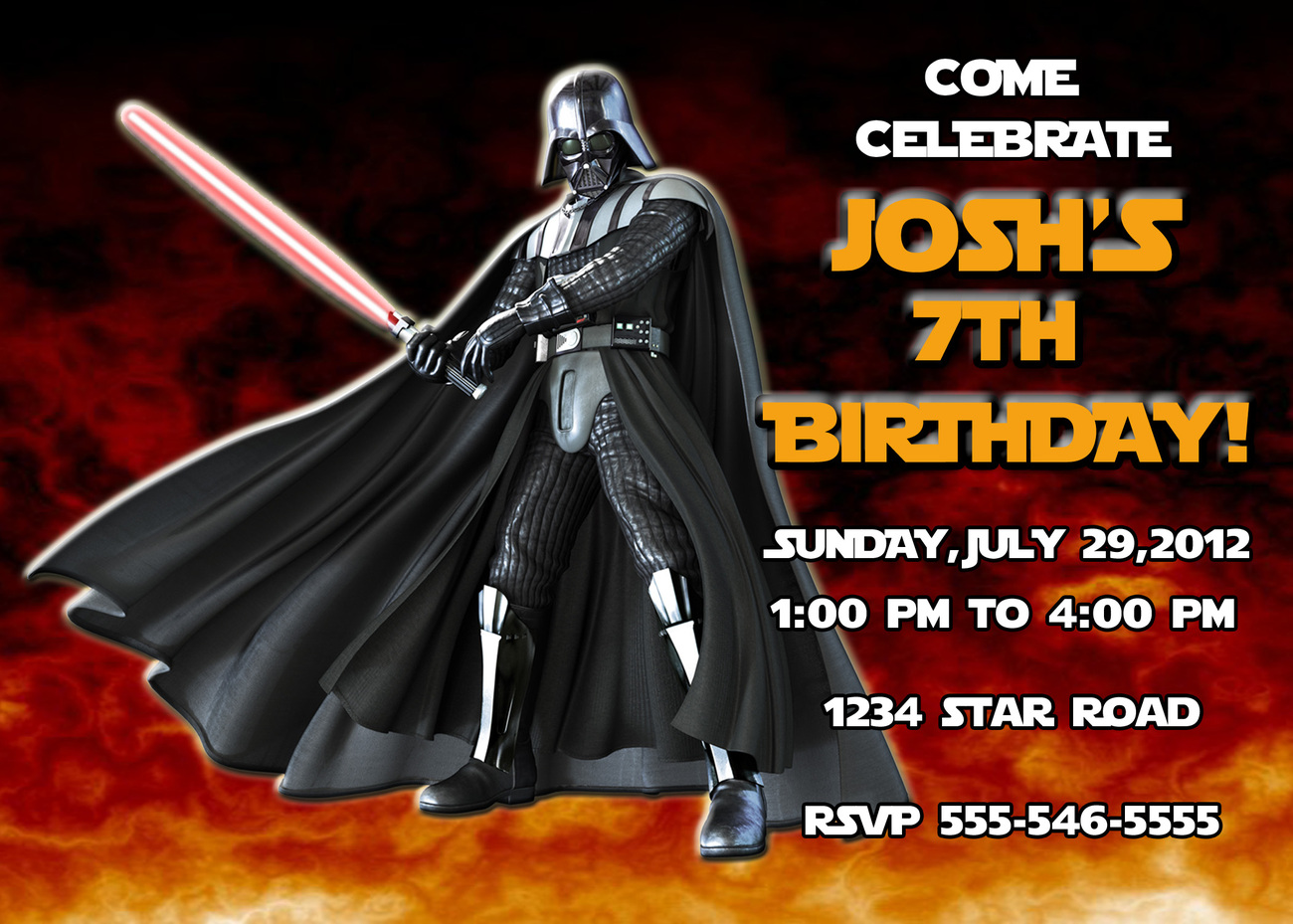 Personalized Star Wars Darth Vader Birthday And 37 Similar Items