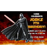 Personalized Star Wars Darth Vader Birthday Invitation Digital File, You... - $8.00