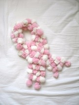 Pink Fur Puffs Scarf - $5.00