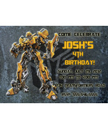 Personalized Transformers Bumblebee Birthday Invitation Digital File, Yo... - $8.00