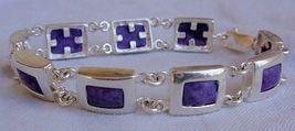 Puprle silver bracelet A  - $54.00