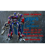 Personalized Transformers Optimus Prime Birthday Invitation Digital File - $8.00