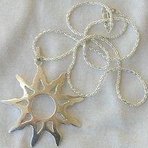 Happy sun silver pendant 2 thumb200