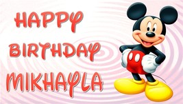 Mickey Mouse Club House -Custom- Personalized Birthday Banner V-2 Full - $34.95