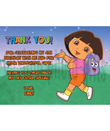 Personalized Dora the Explorer Thank You Card Digital File, You Print - $8.00