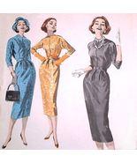 50s Wiggle Dress Sheath Pattern Butterick 8271 Jewel Neck 14 - $8.50
