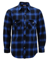 Men's Premium Cotton Button Up Long Sleeve Plaid Comfortable Flannel Shirt image 2