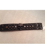 Genuine Leather Scull Stud Bracelet  - $16.99