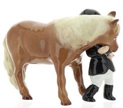Hagen-Renaker Specialties Ceramic Horse Figurine Little Girl and Shetland Pony image 3