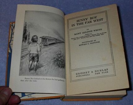 Sunny Boy in the Far West 1924 Ramy White Juvenile Series Book