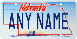 Custom Personalized Nebraska golf cart, mobility scooter, go cart license plate - $12.99