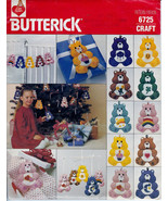 """Butterick 6725 Care Bears Felt Plush 5.5"""" Ornaments Crib Mobile Pattern  - $12.00"""