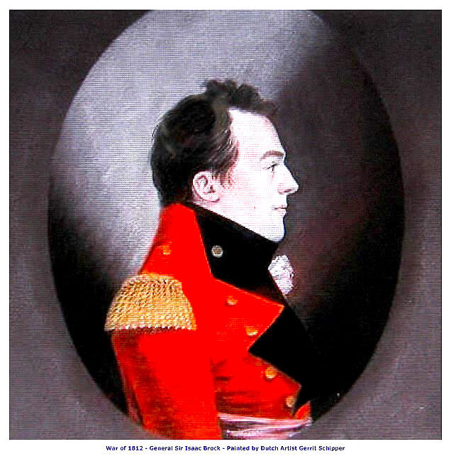 War of 1812, General Sir Isaac Brock 13 x 10 inch Canvas Giclee Art Print
