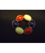 Patriotic Red White and Blue Circle Pin-Vintage - $13.00