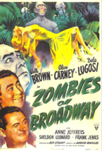 ZOMBIES ON BROADWAY - FLEXIBLE MAGNET - BELA LUGOSI, WALLY BROWN & ALAN ... - $4.00