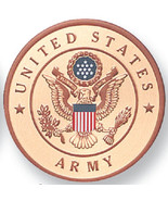 "US Army Service Medallion, Aluminum, 2"" Diameter, Peel and Stick Adhesiv... - $6.00"