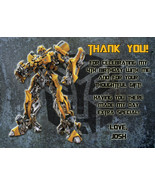 Personalized Transformers Bumblebee Birthday Thank You Card Digital File - $8.00