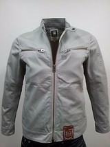 G Star RAW 5620 MOTOR Biker Zip Jacket in Industrial Grey, Size S BNWT $250 - $84.75