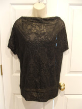 NWT Black Lace look Dolman Sleeve w attached cami Top Size  small-4-6 - $14.10