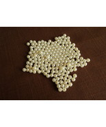 "1 Package of 300 Jewelry Craft 1/8"" Wide Round White Faux Pearls Free Sh... - $4.00"