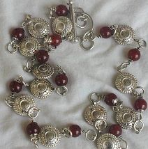 Maskit neclace with red agate stones a thumb200