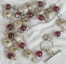 Maskit neclace with red agate stones a 1 thumb200