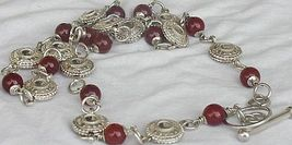 Maskit neclace with red agate stones a 2 thumb200