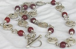 Maskit neclace with red agate stones a 3 thumb200