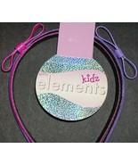 2 set Kidz Elements Purple Pink Bow Vinyl Hair Head Bands - $2.29