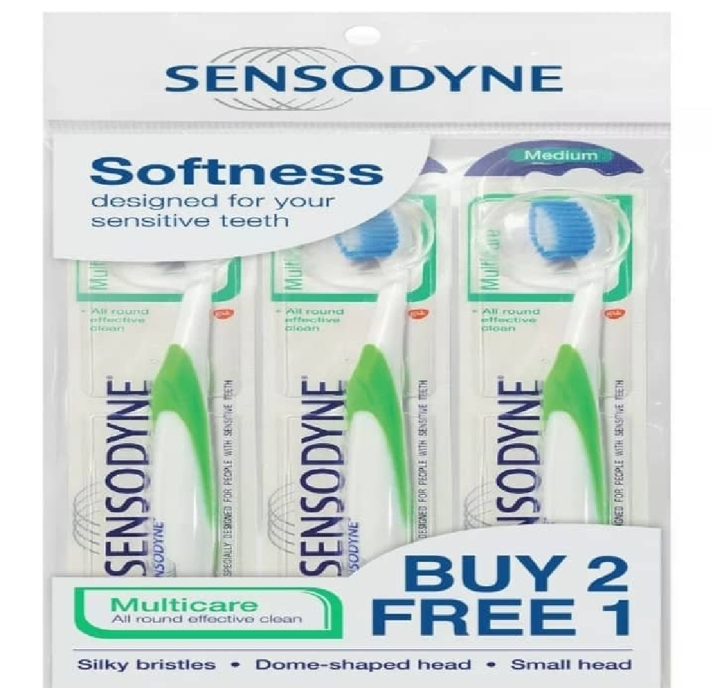 Sensodyne Multicare Medium Bristles Toothbrush 3 Units - $25.78