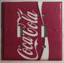 Coke Coca Cola Logo Light Switch Power Outlet wall Cover Plate Home decor image 6