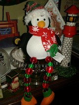"Christmas Color Changing Fiber Optic Lighted Penquin17"" AVON Gift  2008 - $29.65"