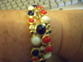 Joan Rivers Patriotic Stretch 7 to 7 1/2 inch Cuff Look Bracelet - $30.00